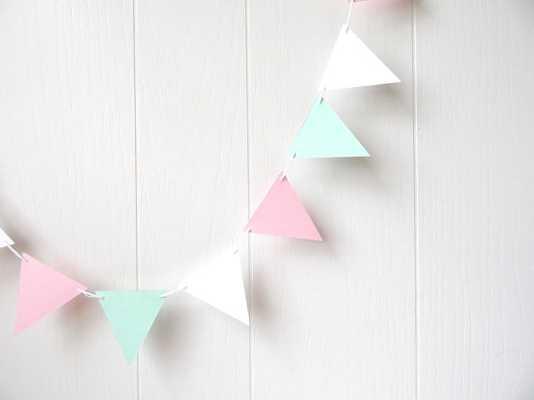 Triangle Flag Bunting Garland Nursery Decor - Etsy