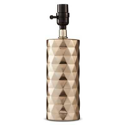 "Metallic Ceramic Lamp Base Small - Gold Plated - Thresholdâ""¢ - Target"
