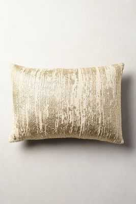 Plaited Metallics Pillow - Anthropologie