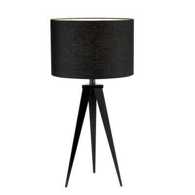 Director 28 in. Black Table Lamp - Home Depot
