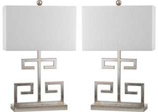 Greek Key Table Lamp - Set of 2 - One Kings Lane