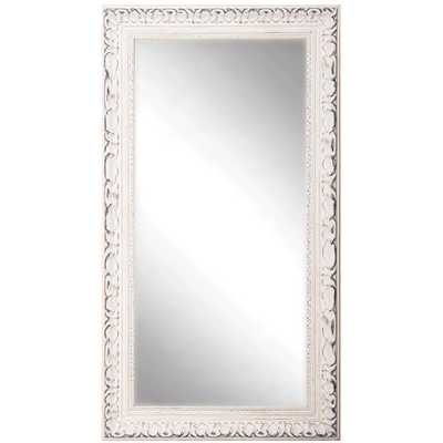 American Made Rayne Distressed French Victorian White Full Length Mirror - Overstock