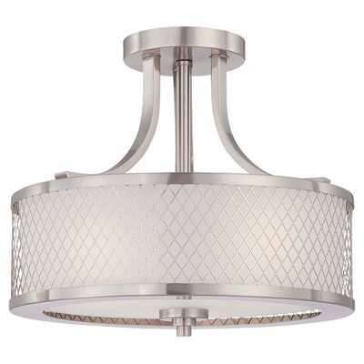 Fusion 3 Light Semi Flush Mount - Wayfair