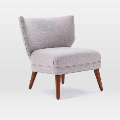 Retro Wing Chair - Steel/Ivory - West Elm