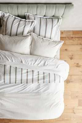 Salento Striped Duvet-King - Anthropologie
