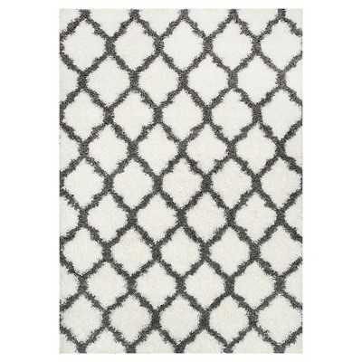 "nuLOOM Modern Trellis Shag Rug - Medium off-white; 5'3"" x 7'6"" - Target"