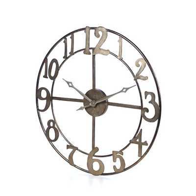 """Oversized 32.25"""" Delevan Wall Clock - AllModern"""