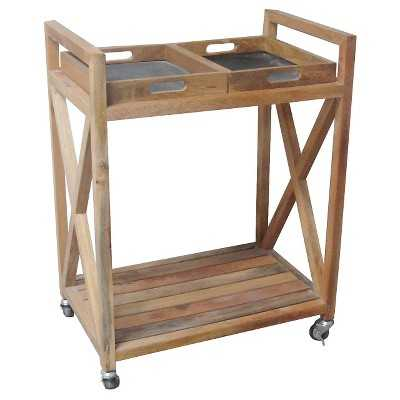 Smith and Hawken Bar Cart with Slate Trays - Target