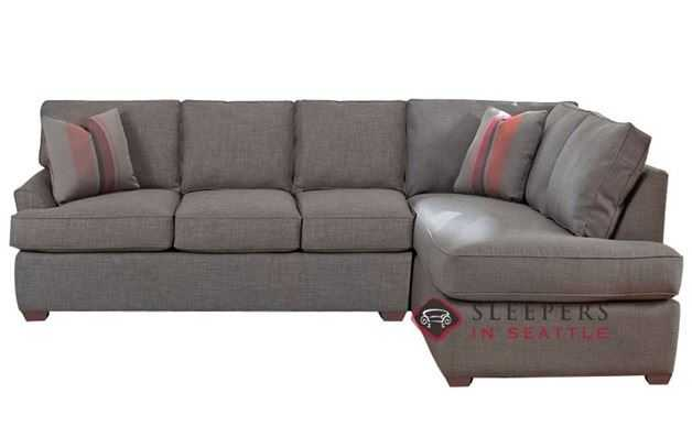 Savvy Gold Coast Chaise Sectional Sleeper Sofa (Full) - LAF - Brookside Grey - sleepersinseattle.com