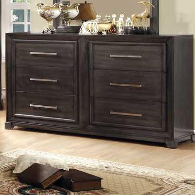 Peterson 6 Drawer Dresser with Mirror - AllModern