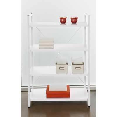 Tribeca White 4-shelf Bookcase - Overstock