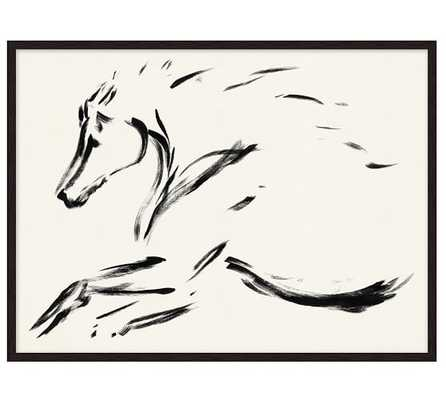 """STALLION IN STRIDE PRINT - 24"""" wide x 18"""" high x 1.75"""" thick - framed - Pottery Barn"""