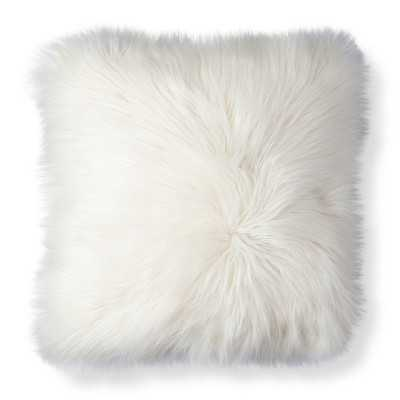 "Thresholdâ""¢ White Fur Decorative Pillow - 18"" x 18"" - Polyester fill - Target"