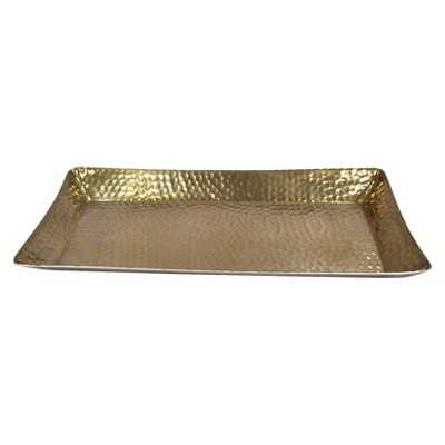 Metal Hammered Serving Tray - Gold - Target