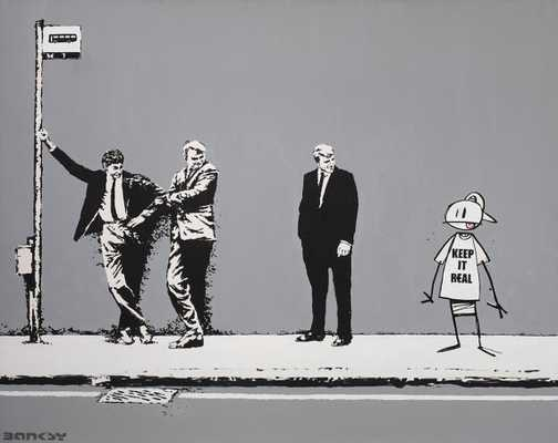 "Banksy Canvas-18"" x 24""-Unframed - Etsy"