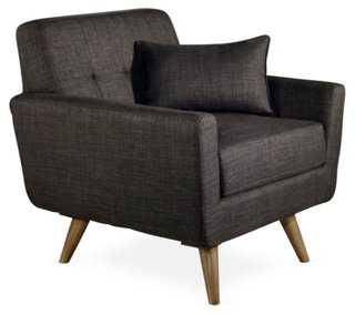 Brittany Linen Accent Chair - One Kings Lane