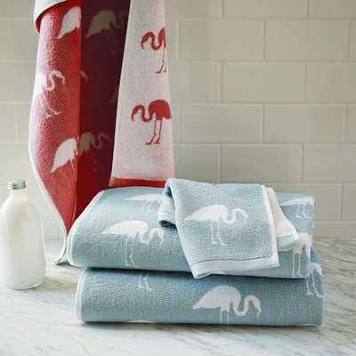 Flamingo Jacquard Towels - West Elm