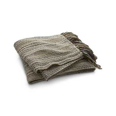 Shelby Natural Throw - Natural - Crate and Barrel
