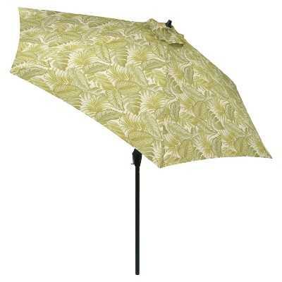 "9' Round Patio Umbrella Leaves Pattern - Thresholdâ""¢ - Target"