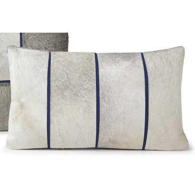 """Oblong Lumbar Pillow - 12"""" H x 20"""" W - Down/Feather insert - Wayfair"""