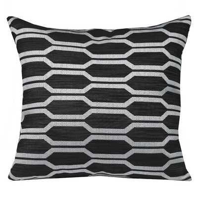 "Urban Loft Hexagon Throw Pillow, Black - 20"" Sq. - Down/Feather insert - AllModern"