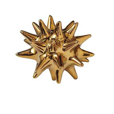 "5.5"" Urchin Shiny Gold Decorative Object - AllModern"
