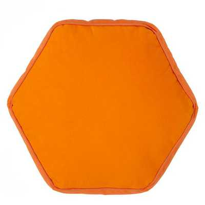"Orange Hexagon Throw Pillow- 16""Wx14""H- Polyester fill insert - Land of Nod"