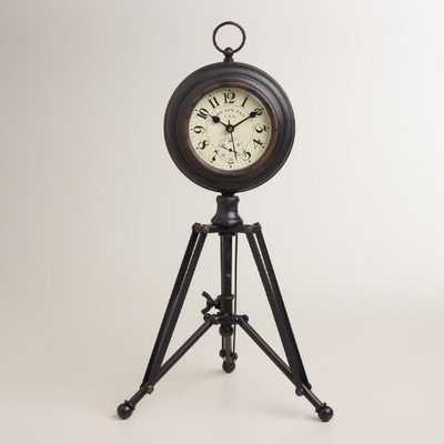 Black Alton Tripod Clock - World Market/Cost Plus