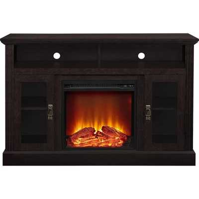 Altra Espresso Chicago Fireplace TV Console - Overstock