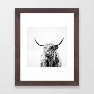 portrait of a highland cow - Society6