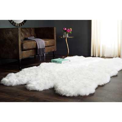 Safavieh Hand-woven Sheep Skin White Sheep Skin Rug (6' Square) - Overstock