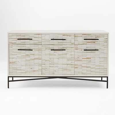 Wood Tiled Buffet - West Elm
