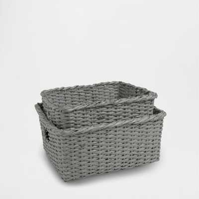 "RECTANGULAR PAPER BASKET - 14.6 X 12.2 X 6.7 "" - Zara Home"