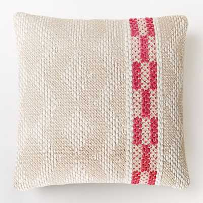 """Diamond Color Stripe Pillow Cover - Shockwave, 20""""Sq, Insert sold separately - West Elm"""
