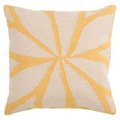 "Woven Exploded Geometric Toss Pillow - 18x18"" - Yellow - Insert Included - Target"