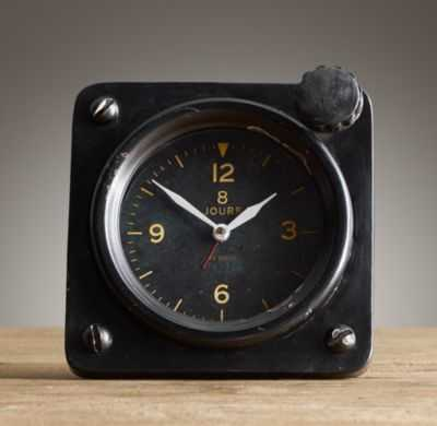 1950S FRENCH FLIGHT DECK 8-DAY CLOCK - Schoolhouse Electric