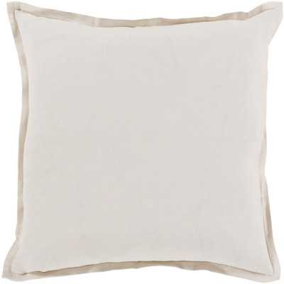 Cotton & Linen Throw Pillow - 18x18- insert included - Wayfair