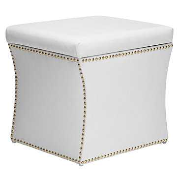 Storage Ottoman - White - Z Gallerie
