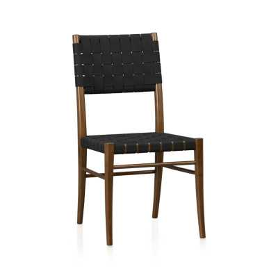 Oslo Black Wood Dining Chair - Crate and Barrel