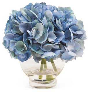 "11"" Hydrangea in Vase, Faux - One Kings Lane"