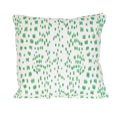 """Green Les Touches Pillow - 18"""" x 18"""" - with insert - Society Social"""