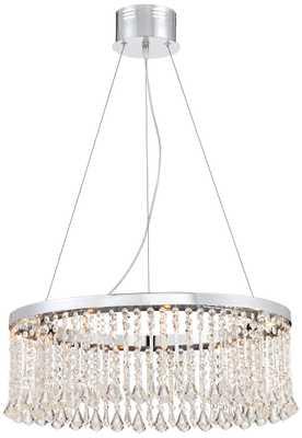 Keanna Chrome LED Crystal Pendant Light - Lamps Plus