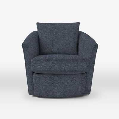 Duffield Swivel Chair -Chenille Tweed, Nightshade - West Elm