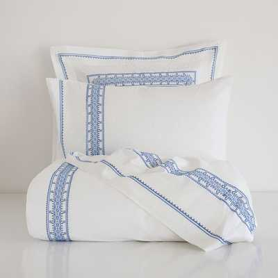 CROSS-STITCH EGYPTIAN PERCALE COMFORTER COVER - Zara Home