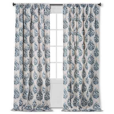 "Thresholdâ""¢ Paisley Curtain Panel - 54W x 95L - Target"