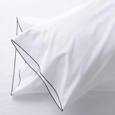 Belo Blue King Pillow Cases - Crate and Barrel