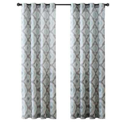 "Ankara Single Curtain Panel - Aqua/95"" L x 50"" - Wayfair"