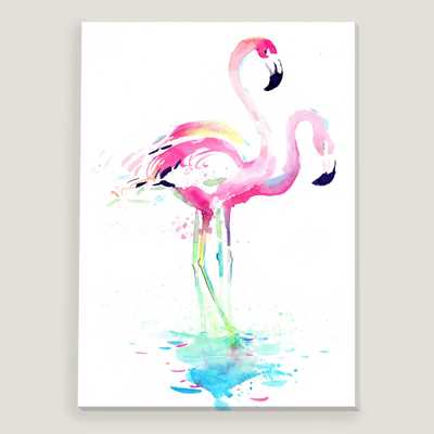 "Flamingo by Okalinichenko -27"" x 40"" - unframed - World Market/Cost Plus"