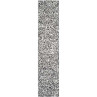Malibu Silver Shag Area Rug - Wayfair