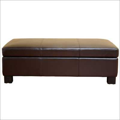 Wholesale Interiors Gallo Series Storage Ottoman - vivedecor.net